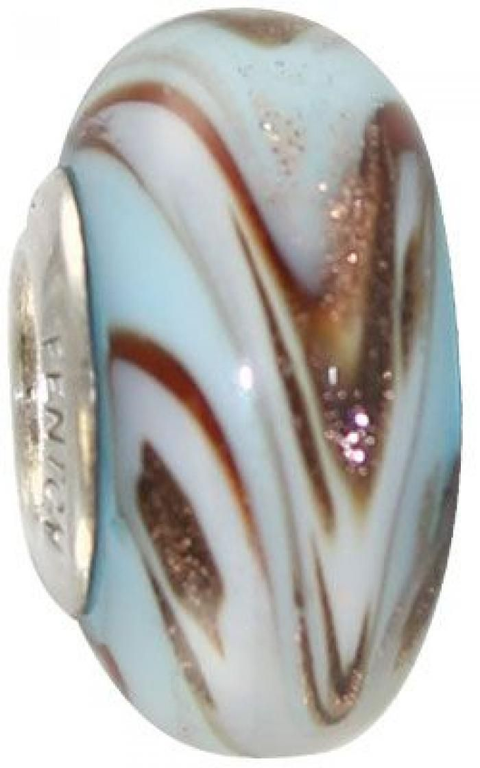 fenton artisan crafted glass bead under the boardwalk sterling silver lined