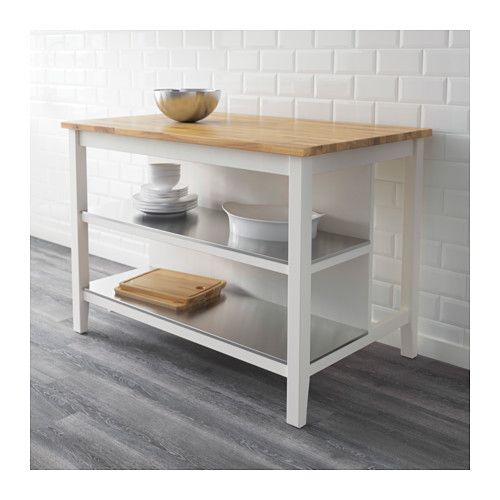 Stenstorp Kitchen Island White Oak