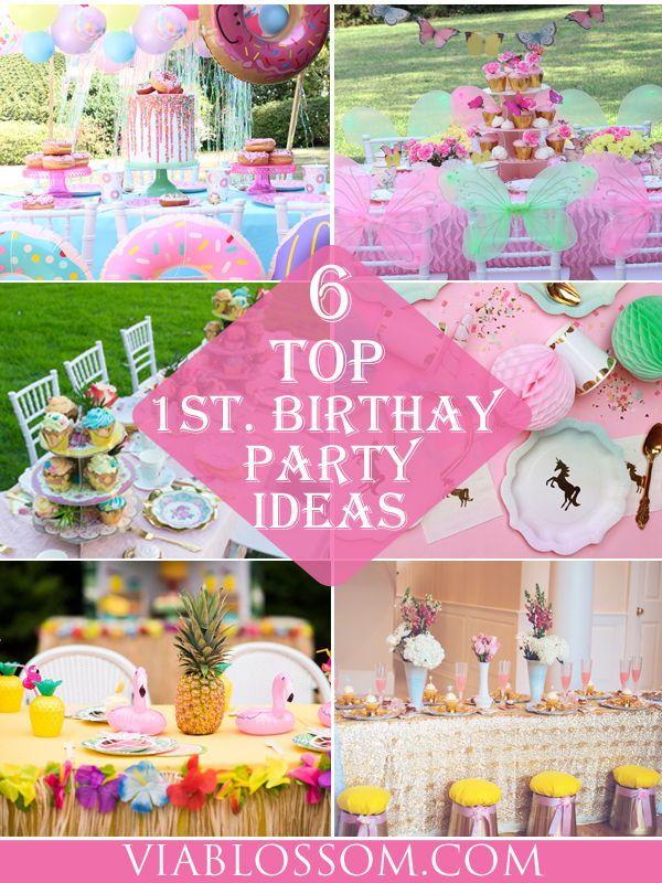 6 Best Girl 1st Birthday Party Ideas Via Blossom First Birthday Theme Girl 1st Birthday Party Themes Girl Birthday Themes