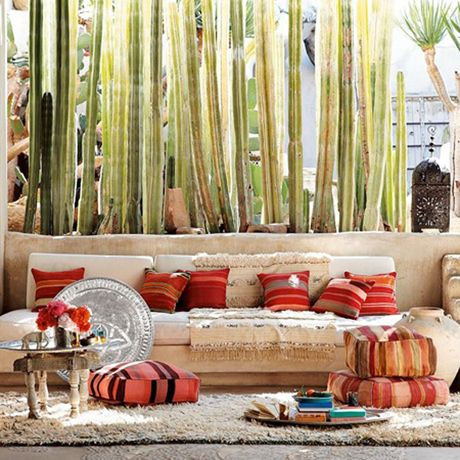 cactus envy: Idea, Houses Style, Interiors Design, Moroccan Style, Floors Cushions, Houses Architecture, Floors Pillows, Outdoor Spaces, West Elm