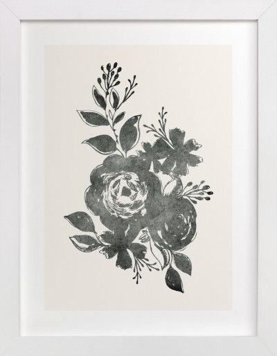 Dark Florals No.1 by Alethea and Ruth: http://www.stylemepretty.com/living/2015/11/10/winter-refresh-sweeps-with-minted-west-elm-theskimm/