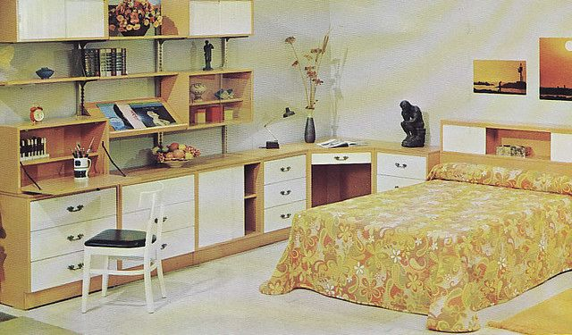 Woodland Furniture 1960s Bedroom With