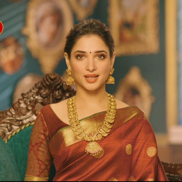 Tamannaah On Instagram Attica Gold Pvt Ltd New Tamil Ad Tamannabhatia Tamanna Thamanna Ta Bridal Sarees South Indian Saree Designs Saree