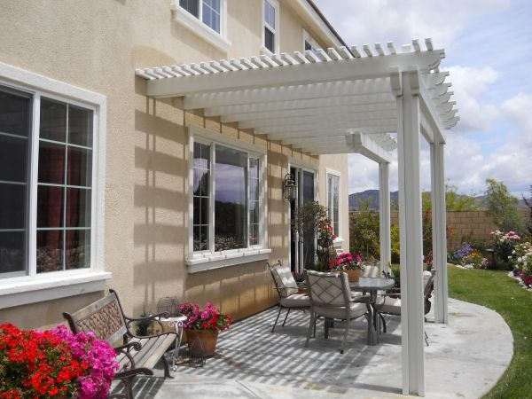 Love The Look This Pergola Gives To The Back Patio.