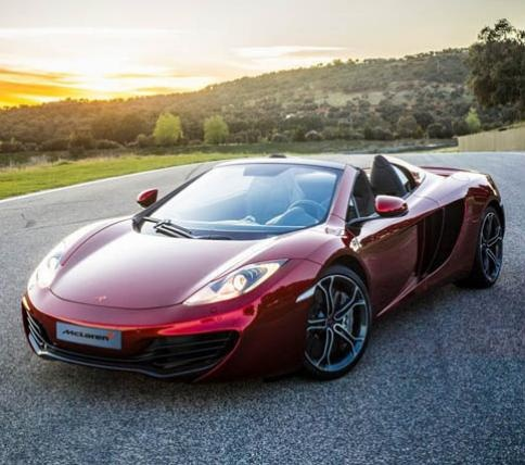 McLaren MP4-12 C Spider. Saw one in Minneapolis yesterday.  Not something you see everyday.