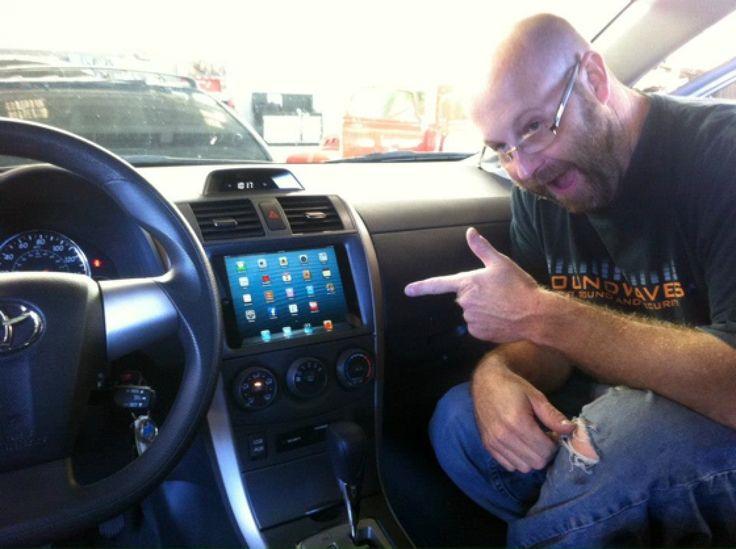 iPad Mini Already Installed in Car Dashboard