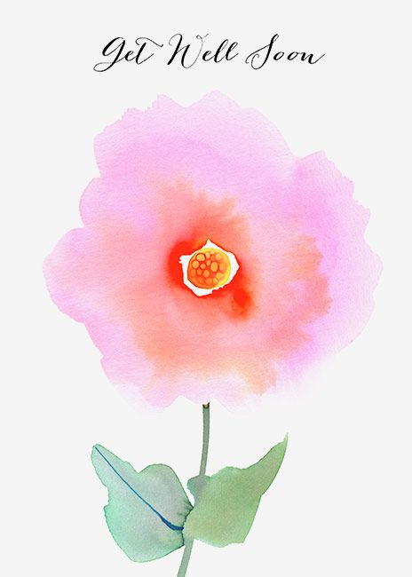 Margaret Berg Art: Get Well Soon Rose