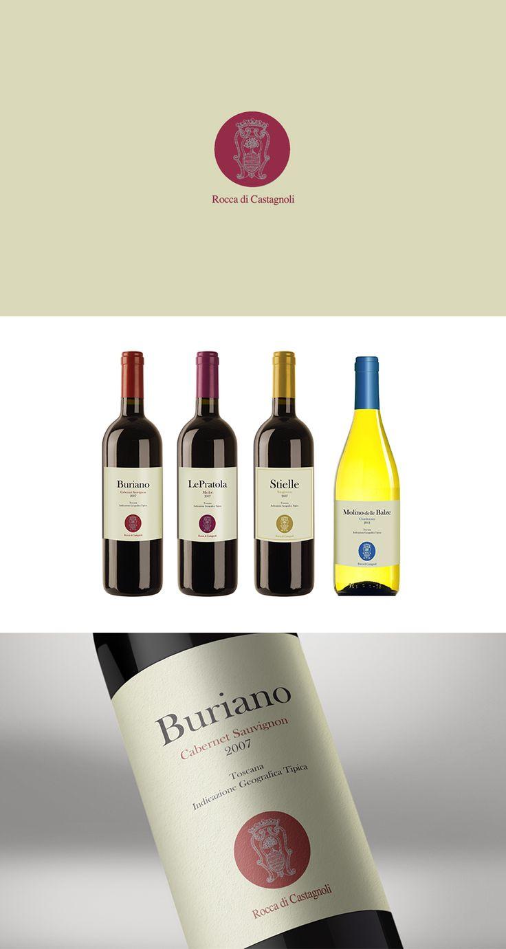 Rocca di Castagnoli, Label Design ─ Giulio Patrizi Design Agency ©   #wine #label #design #bottle