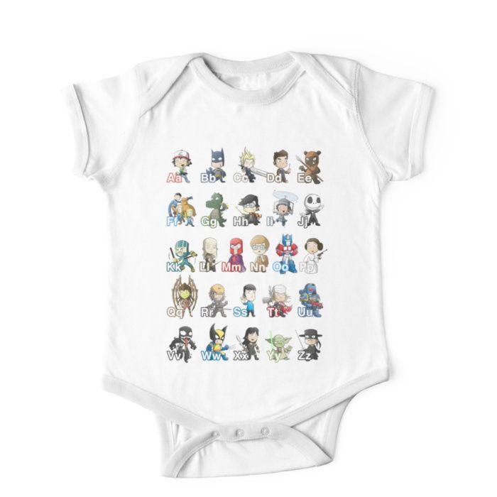 ABC of Geek Culture Kids Clothes