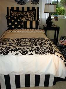 I really wanted my apartment room to be colors... but I love black and white so much I don't think that'll happen