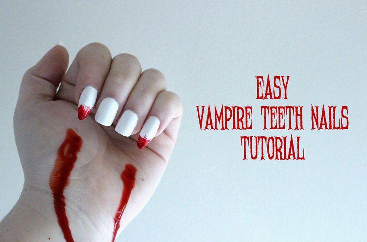 Easy & Fun Vampire Nails #nails #nailsalon #nailart # ...