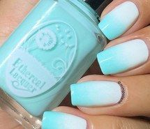 Inspiring image aqua blue, cute, cute nails, girly, ombre nails, pretty, summer, teen, teen nails, ombre effect, summer fever, aqua nails ombre #3134335 by violanta - Resolution 640x640px - Find the image to your taste