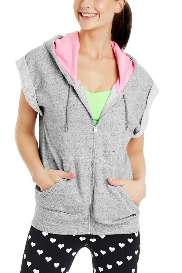 Avalanche S/Slv Hoodie | Hoodies | Styles | Styles | Shop | Categories | Lorna Jane Uber cute chambray grey