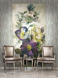 The Villa Floral collection is inspired by the hand-painted silks of Italy's Lake Como region and the beautiful Italian villas that are nestled on the shores of the lake. The artistry and passion of t