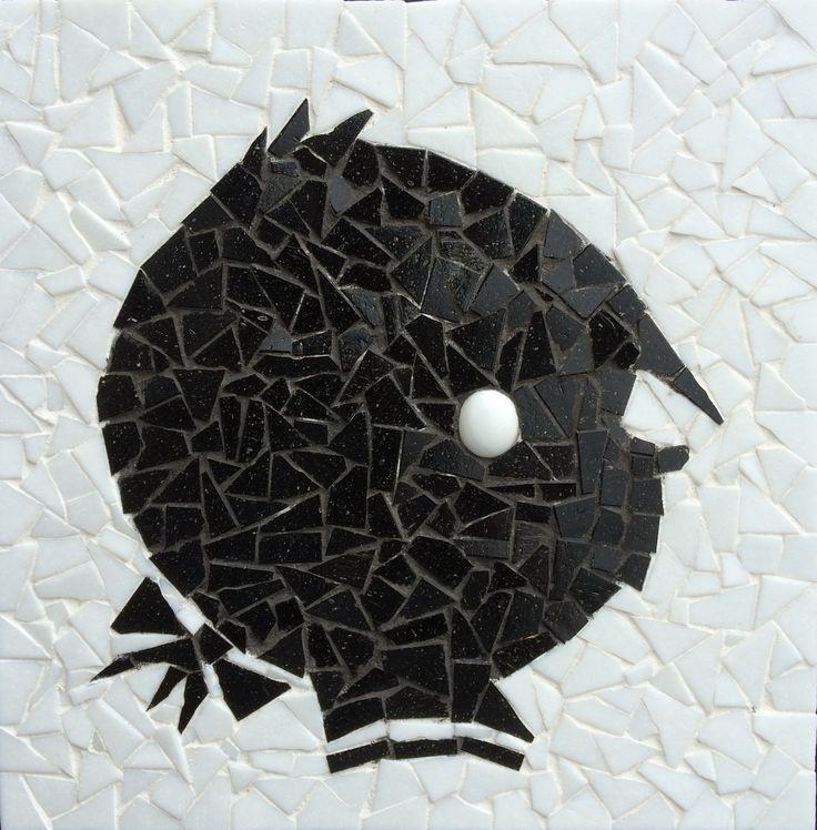 Mozaiek pakket Hanneke, inclusief alle steentjes, patroon, carbonpapier en voegmiddel. € 9,95