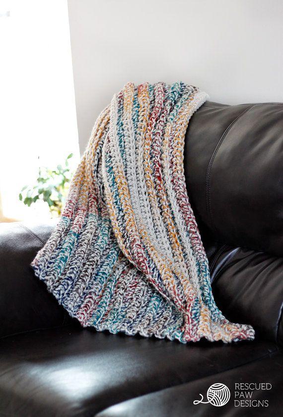 Free Crochet Pattern Queen Size Blanket : Crochet Pattern Crochet Chunky Afghan Blanket {Baby ...