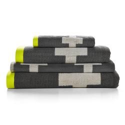 Crosses Towel Collection | Charcoal