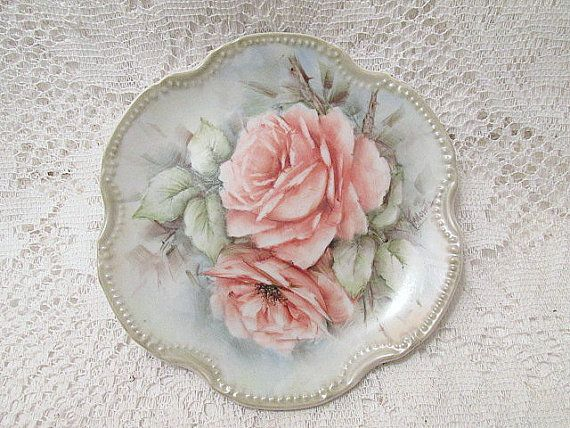 Hanging plate for wall decor c1910s by ThePeddlersDaughter on Etsy