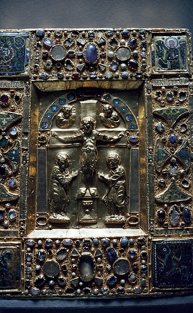 medieval book cover, Louvre Museum, Paris