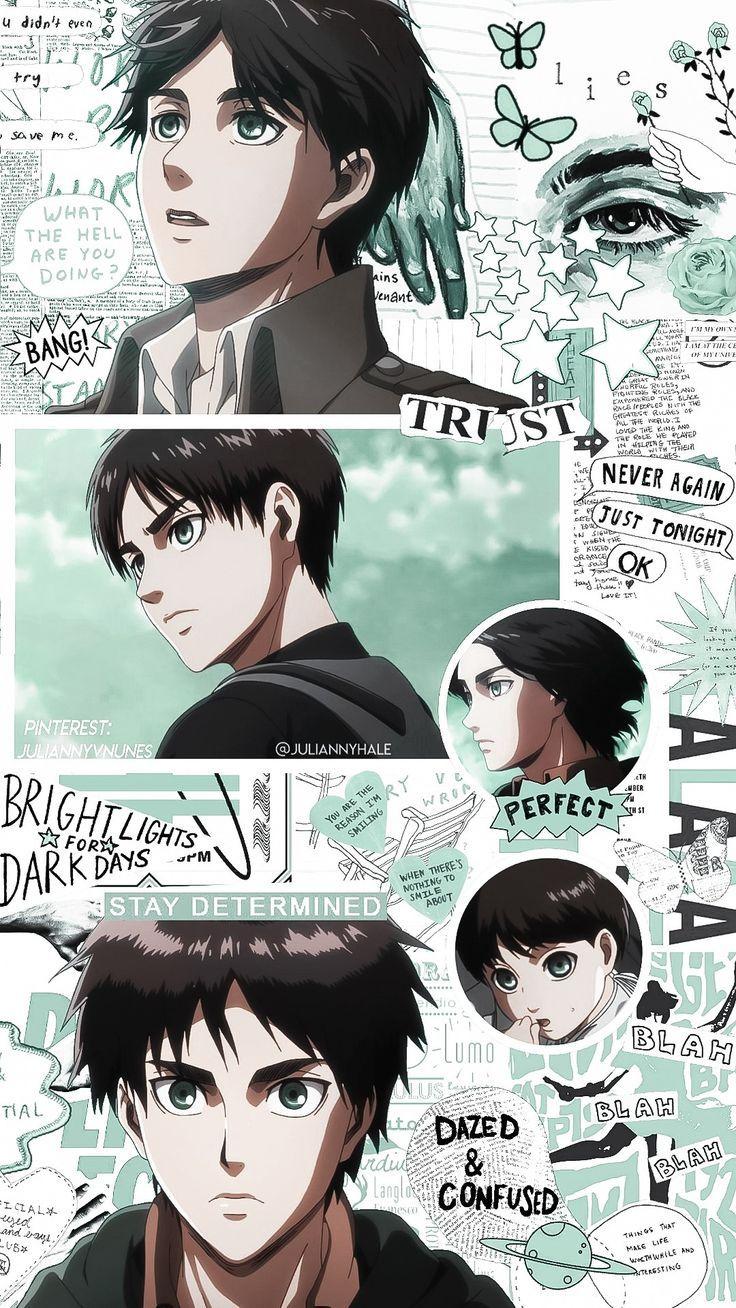 Eren Jaeger Lockscreen In 2020 Titans Anime Cute Anime Wallpaper Attack On Titan Anime