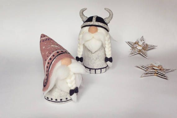 Swedish christmas gnome christmas decorations needle felted