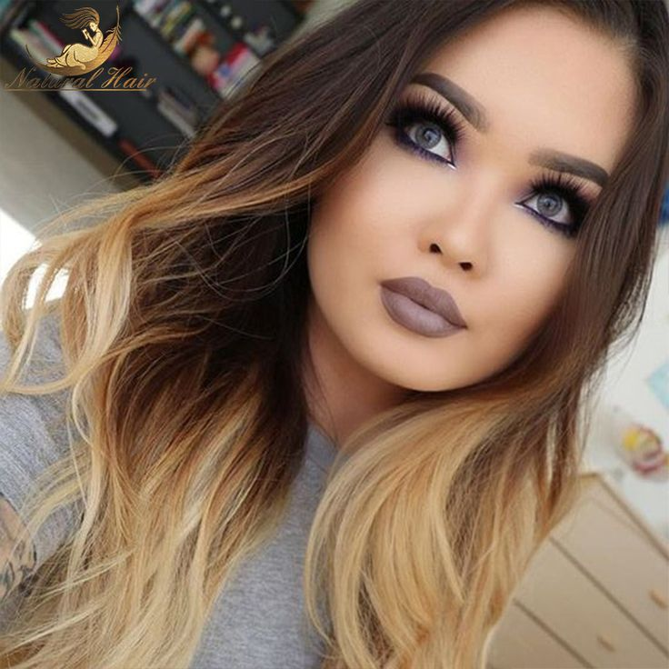 Ombre Lace Wig Glueless Full Lace Wigs Human Hair Virgin Ombre Brazilian Lace Front Wig For Black Women