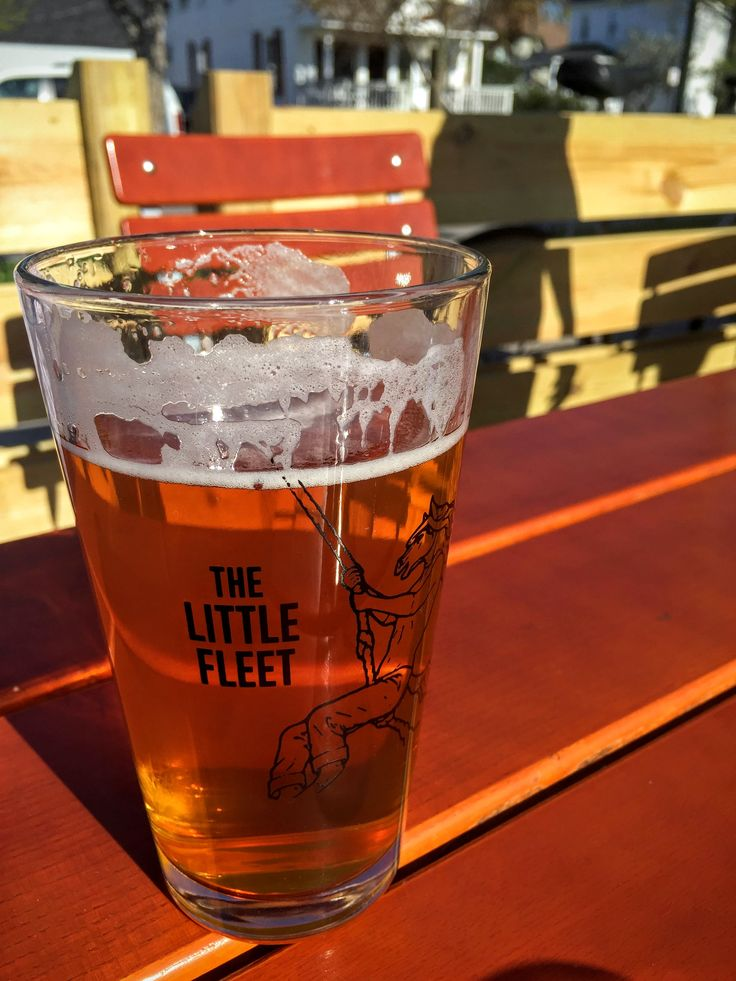 A crisp and refreshing ice cold beer at The Little Fleet