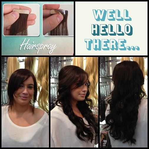 9 best hair extensions images on pinterest hair extensions hair from short 2 long for a song all this for only tape hair extensions available at our hairspray salons for only packs quick to apply lasts for weeks pmusecretfo Choice Image