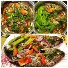 Steamed Tilapia With (Snow Peas) Sitsaro