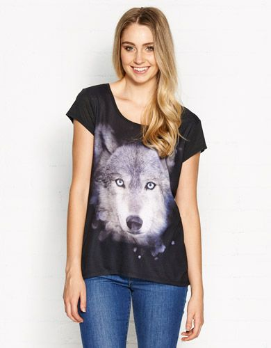 Image for Wolf Printed Tee from Jay Jays