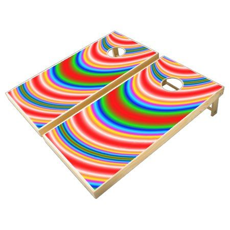 cool colorful pattern cornhole set - click to get yours right now!