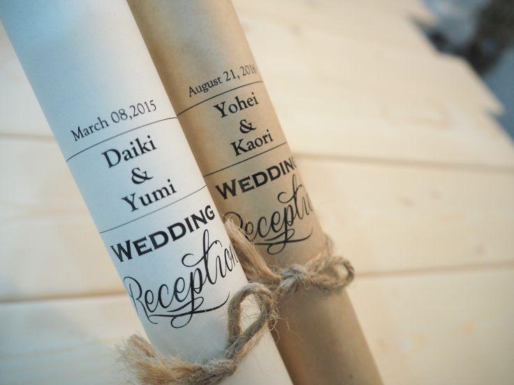 シンプルでさりげないデザイン。 探してたペーパーアイテムがここにある・・・ 大人ナチュラルな フラベガーデンのデザインです。  クラフト紙に印刷可能!  #ロール席次表 #くるくる席次表 #巻物風席次表 #ナチュラル席次表 #結婚式準備 #フラベガーデン #ペーパーアイテム #クラフト印刷