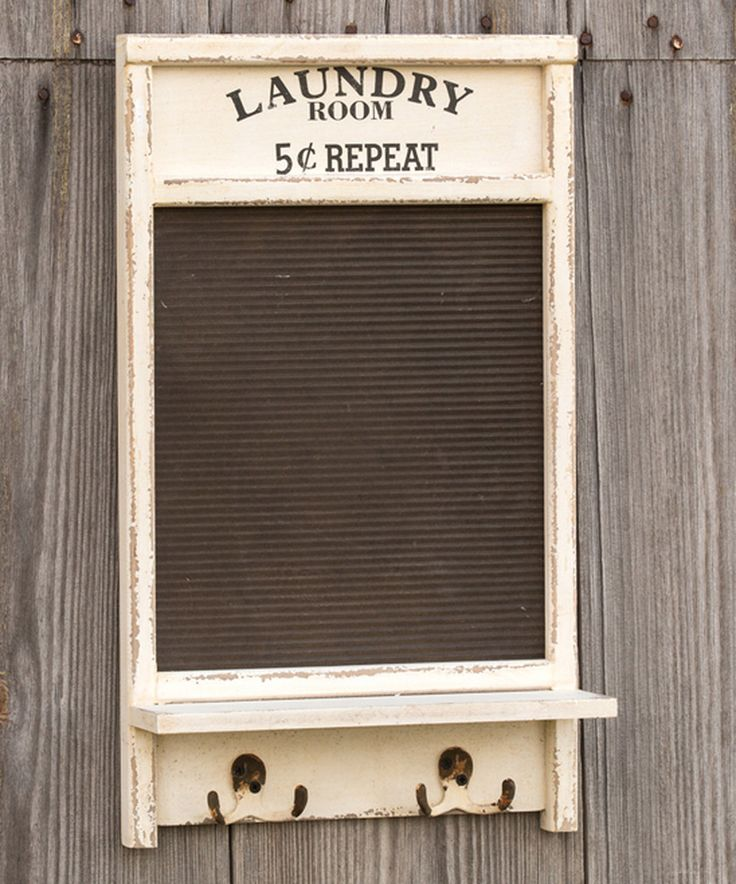 Love this 'Laundry Room' Washboard Wall Hook by Ragon House on #zulily! #zulilyfinds