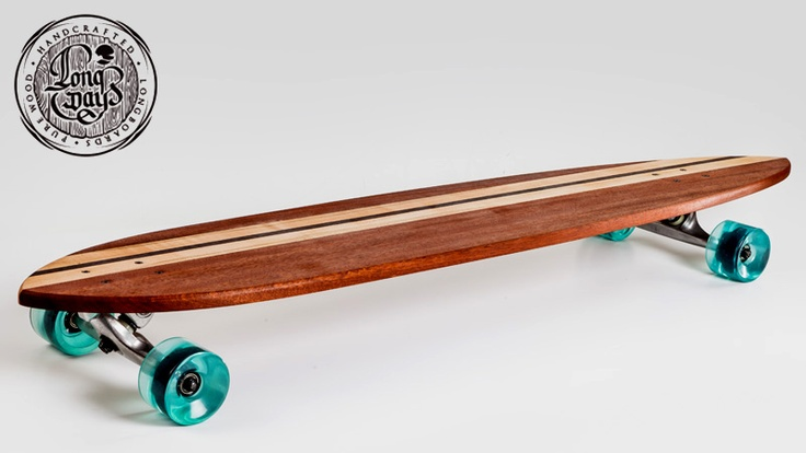 Pintail. Long Days Longboars. Handcrafted. Pure wood. Vintage. Retro skate.