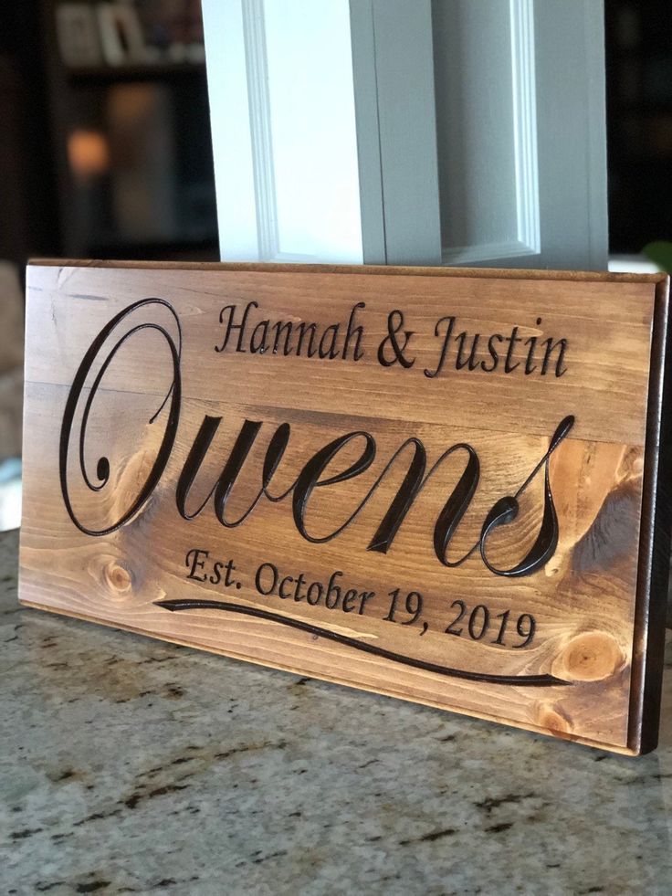 Family Name Sign Carved Wood Sign Custom Wedding Gift Etsy In 2021 Carved Wood Signs Family Wood Signs Wood Signs