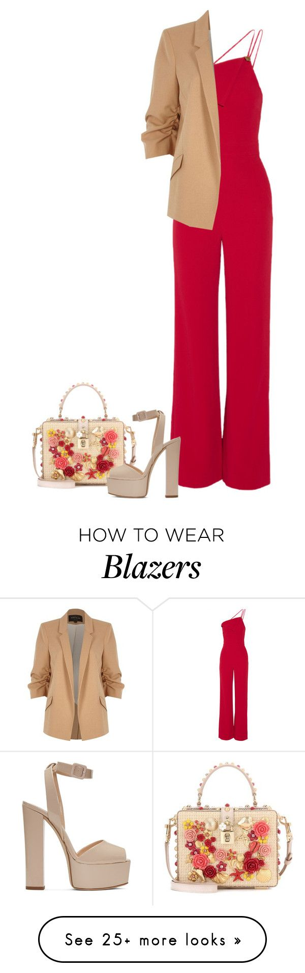 """""""Untitled #5039"""" by linda56draco on Polyvore featuring Cushnie Et Ochs, Dolce&Gabbana, Giuseppe Zanotti and River Island"""