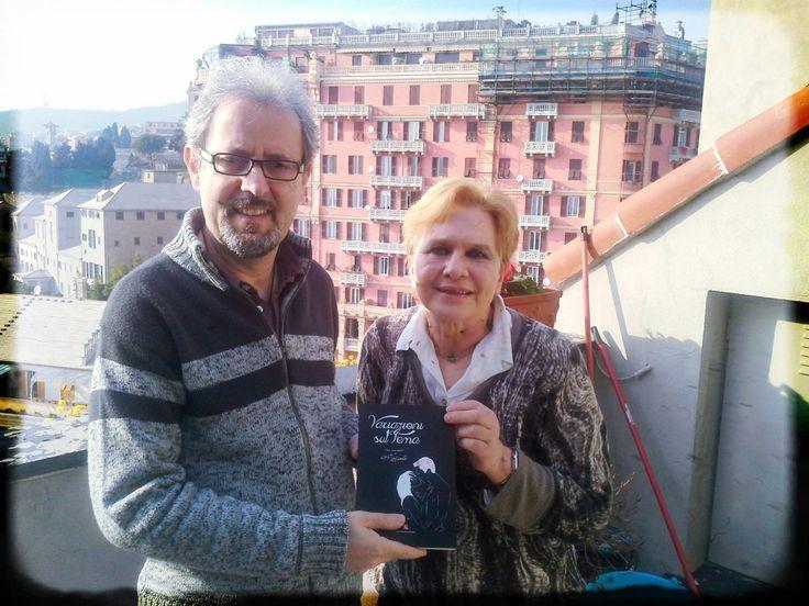 Consegna del #libro alla Proff.ssa Caracciolo (che ha corretto la bozza del racconto, un grazie particolare)
