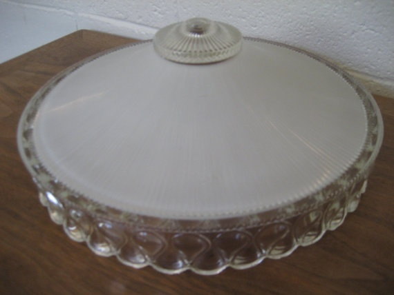 vintage art deco glass ceiling light cover by