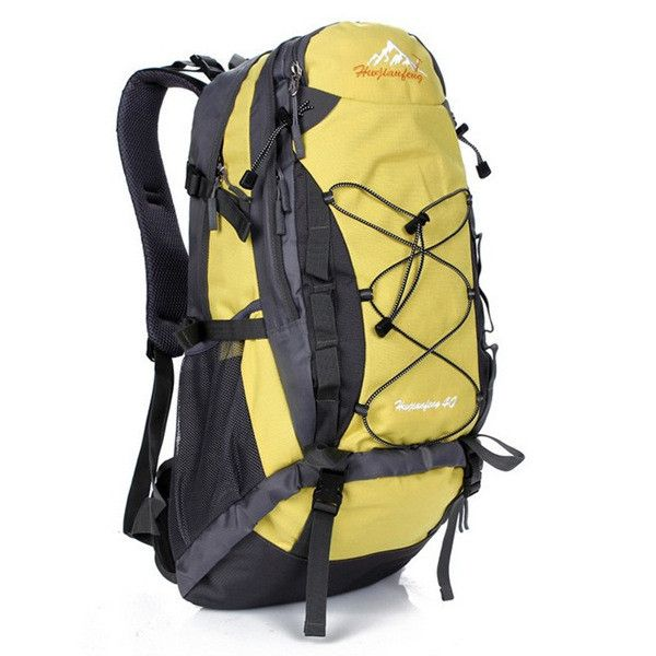 40L Camping Traveling Mountaineering Waterproof Backpack Specification: Main Material:Nylon Color: orange, green, yellow, black Capacity: About 40 liters Approx Size: 27 x 14 x 54 cm (L x W x H) (Appr