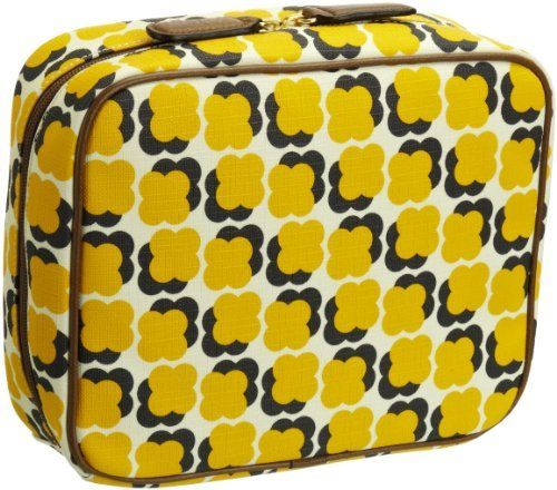 Orla Kiely Floating Flower Print Wash 13SBFFL175-7010-00 Travel Kit,Sun Yellow,One Size Orla Kiely. $146.00. Made in China. Zipper closure. Polyester Cotton/Polyvinyl Chloride. polyester lining