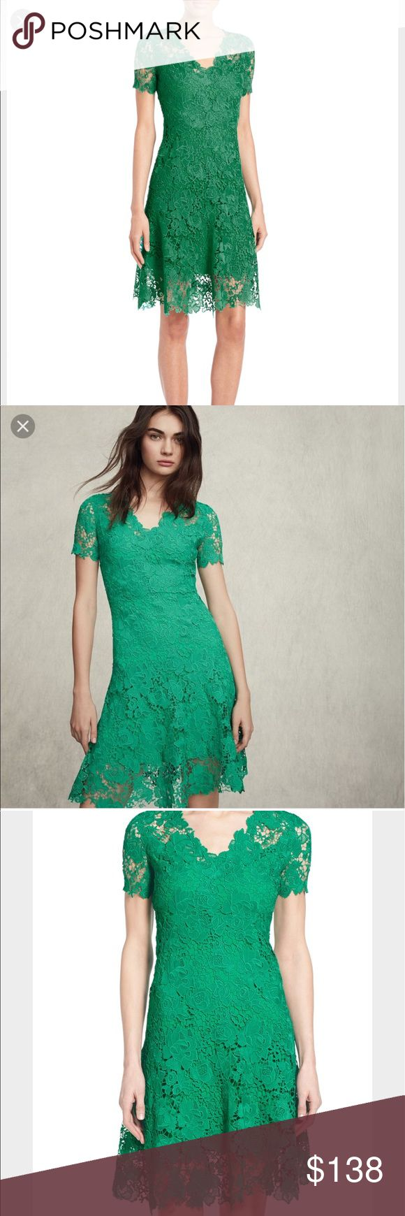 "NWT Elie Tahari green lace dress NWT bust 33""waist 28""length 34"" Elie Tahari Dresses"