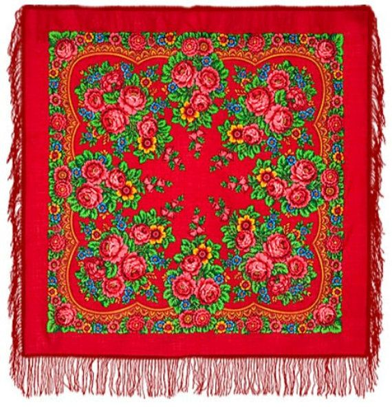 Russian Pavlovo Posad Vintage Style Scarf/Shawl/Wrap
