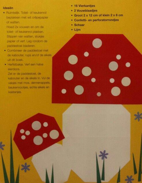 Vouwen 2d: paddenstoel