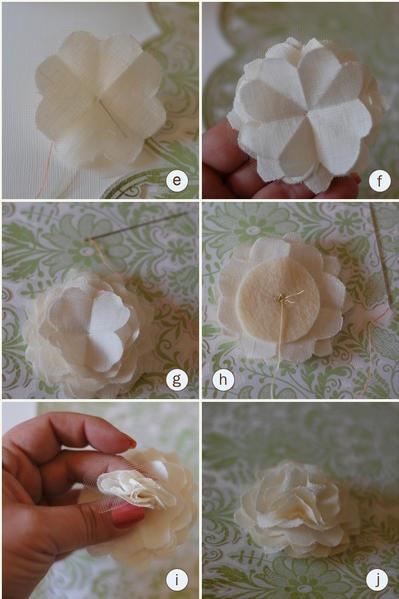 Fabric & tull flowers