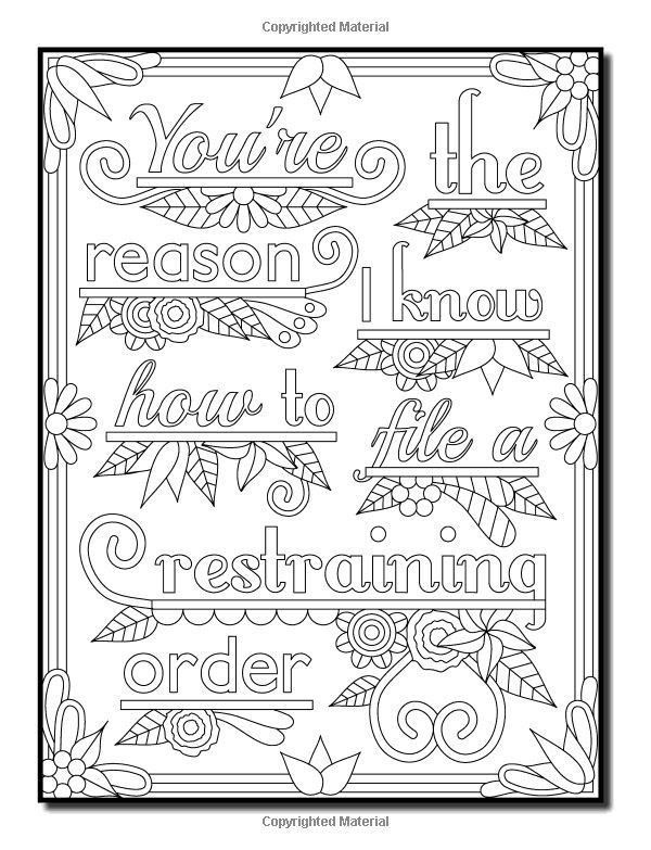 Pin By Renee Mcquade On Color Me Sweary Coloring Pages Words Coloring Book Swear Word Coloring Book Quote Coloring Pages