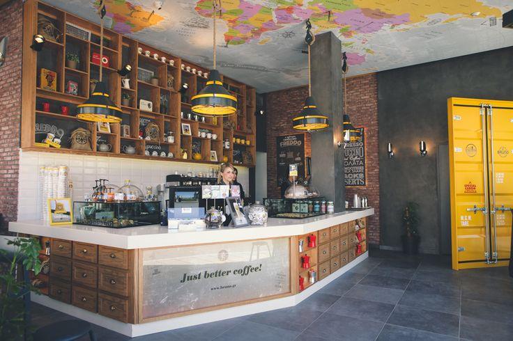 Bruno Coffee Stores   Katerini Greece by Dimitris Koukoudis Architect