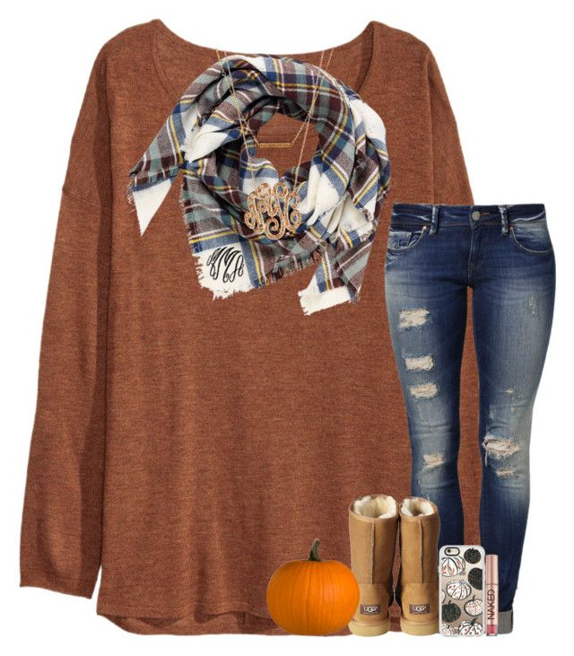 """day 2; pumpkin farm"" by abbypj ❤ liked on Polyvore featuring H&M, Mavi, UGG Australia, Casetify, Urban Decay, Ginette NY, Dutch Basics and madimadsfall2k16"