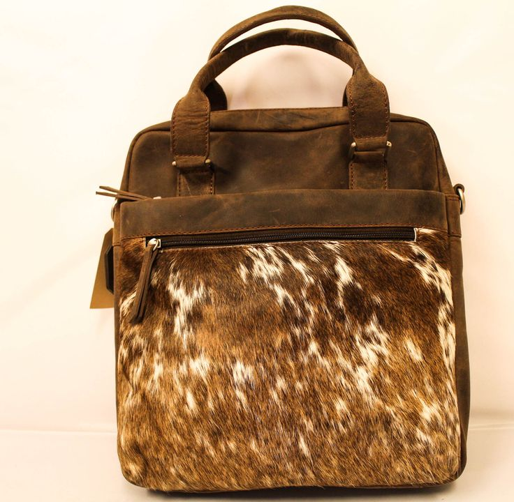 Hairy | Bag | Brown | Leather | Cow | Bear Design
