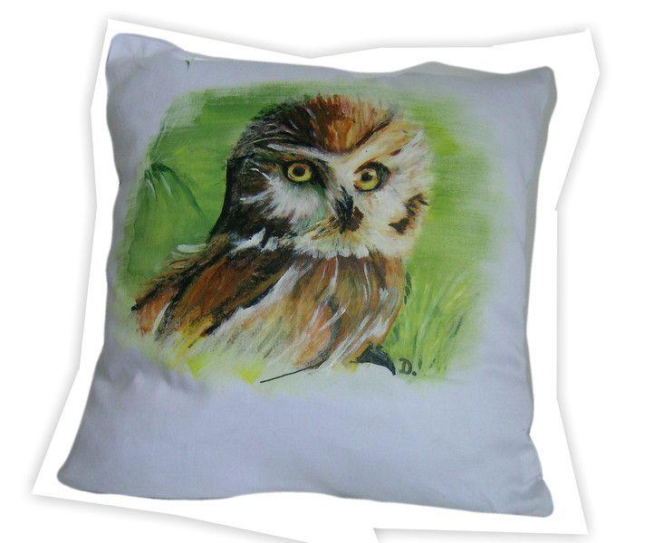 leśna SOWA ręcznie malowana 40x40 w W.pelni Design na DaWanda.com