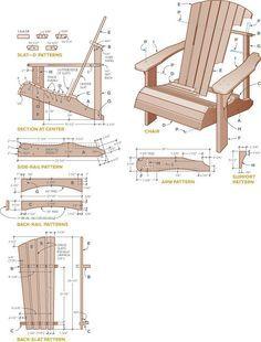 cadeira Adirondack feito de palete